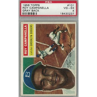 1956 Topps Baseball #101 Roy Campanella GB PSA 4 (VG-EX) *0237 (Reed Buy)