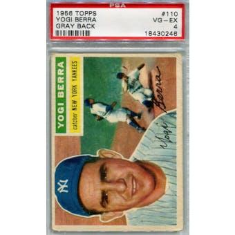 1956 Topps Baseball #110 Yogi Berra GB PSA 4 (VG-EX) *0246 (Reed Buy)