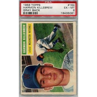 1956 Topps Baseball #164 Harmon Killebrew GB PSA 6 (EX-MT) *5081 (Reed Buy)