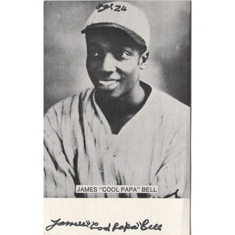 "James ""Cool Papa"" Bell Autographed Post Card JSA"
