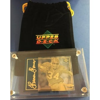 1993 Upper Deck 24KT Gold Thurman Thomas Etched Metal Card