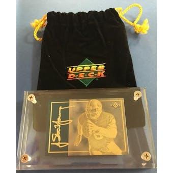 1993 Upper Deck 24KT Gold Steve Young Etched Metal Card