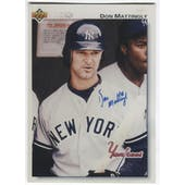 1992 Upper Deck Don Mattingly Autographed Vinyl Card Photo