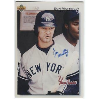 1992 Upper Deck Don Mattingly Autographed Vinyl Card Photo