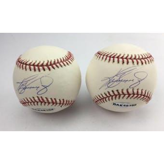 Ken Griffey Jr Autographed Baseball UDA (minor damages)