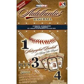 2007 TriStar Autothentics Autographed Baseball Hobby Box (1 Auto Ball/box)