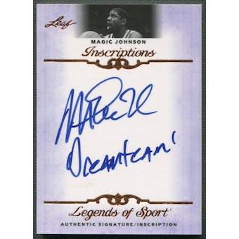 2012 Leaf Inscriptions #IMJ1 Magic Johnson Auto Dream Team Inscription