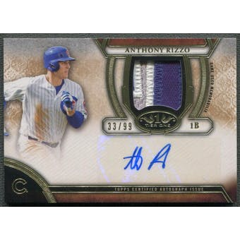 2015 Topps Tier One #TOARAR Anthony Rizzo Patch Auto #33/99