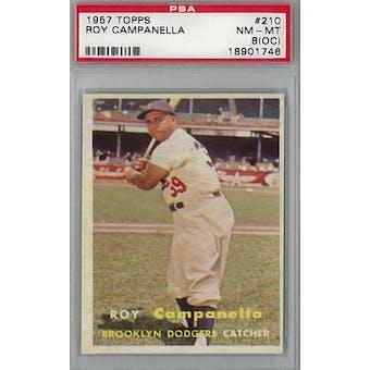1957 Topps Baseball #210 Roy Campanella PSA 8OC (NM-MT) *1746 (Reed Buy)