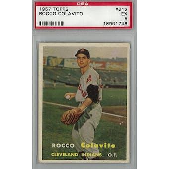 1957 Topps Baseball #212 Rocky Colavito PSA 5 (EX) *1748 (Reed Buy)
