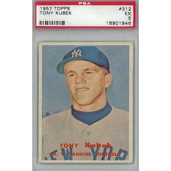 1957 Topps Baseball #312 Tony Kubek RC PSA 5 (EX) *1846 (Reed Buy)
