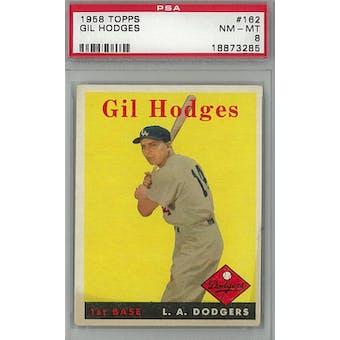 1958 Topps Baseball #162 Gil Hodges PSA 8 (NM-MT) *3285 (Reed Buy)