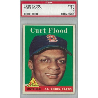1958 Topps Baseball #464 Curt Flood RC PSA 5 (EX) *3585 (Reed Buy)