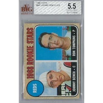 1968 Topps Baseball  #247 Johnny Bench BVG 5.5 (EX+) *8642 (Reed Buy)