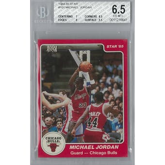 1984 Star Basketball  #101 Michael Jordan XRC BVG 6.5 (EX-MT+) *6641 (Reed Buy)