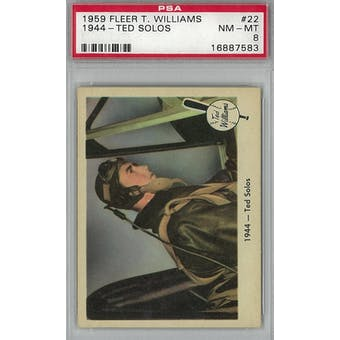 1959 Fleer Baseball Ted Williams Baseball #22 1944 Ted Solos PSA 8 (NM-MT) *7583 (Reed Buy)
