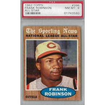 1962 Topps Baseball #396 Frank Robinson AS PSA 8 (NM-MT) *3580 (Reed Buy)