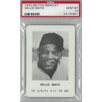 1970 Milton Bradley Baseball Willie Mays PSA 10 (Gem Mint) *5881 (Reed Buy)