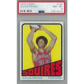1972 Topps Basketball #195 Julius Erving PSA 8 (NM-MT) *4314 (Reed Buy)