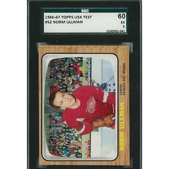 1966/67 Topps USA Test Hockey #52 Norm Ullman SGC 60 EX) *0041 (Reed Buy)