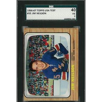 1966/67 Topps USA Test Hockey #55 Jim Neilson SGC 40 (VG) *0043 (Reed Buy)