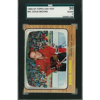1966/67 Topps USA Test Hockey #61 Doug Mohns SGC 30 (Good) *0048 (Reed Buy)
