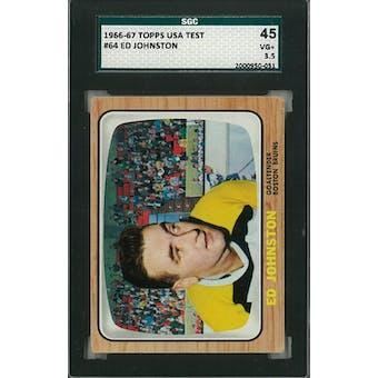 1966/67 Topps USA Test Hockey #64 Ed Johnston SGC 45 (VG+) *0051 (Reed Buy)