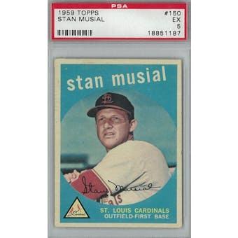 1959 Topps Baseball #150 Stan Musial PSA 5 (EX) *1187 (Reed Buy)