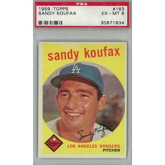 1959 Topps Baseball #163 Sandy Koufax PSA 6 (EX-MT) *1934 (Reed Buy)