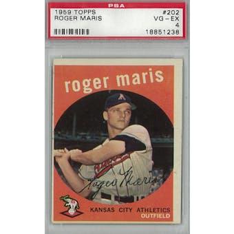 1959 Topps Baseball #202 Roger Maris PSA 4 (VG-EX) *1238 (Reed Buy)
