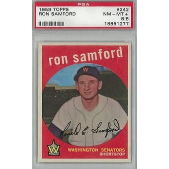1959 Topps Baseball #242 Ron Samford PSA 8.5 (NM-MT+) *1277 (Reed Buy)