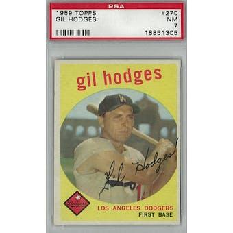 1959 Topps Baseball #270 Gil Hodges PSA 7 (NM) *1305 (Reed Buy)