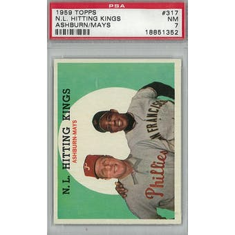 1959 Topps Baseball #317 NL Hitting Kings PSA 7 (NM) *1352 (Reed Buy)
