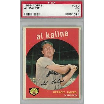 1959 Topps Baseball #360 Al Kaline PSA 7 (NM) *1394 (Reed Buy)