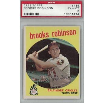 1959 Topps Baseball #439 Brooks Robinson PSA 6 (EX-MT) *1474 (Reed Buy)
