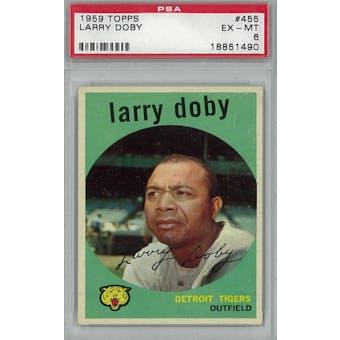 1959 Topps Baseball #455 Larry Doby PSA 6 (EX-MT) *1490 (Reed Buy)