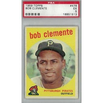 1959 Topps Baseball  #478 Roberto Clemente PSA 5 (EX) *1513 (Reed Buy)