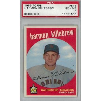 1959 Topps Baseball #515 Harmon Killebrew PSA 6 (EX-MT) *1550 (Reed Buy)