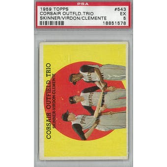 1959 Topps Baseball #543 Corsair Outfield Trio PSA 5 (EX) *1578 (Reed Buy)
