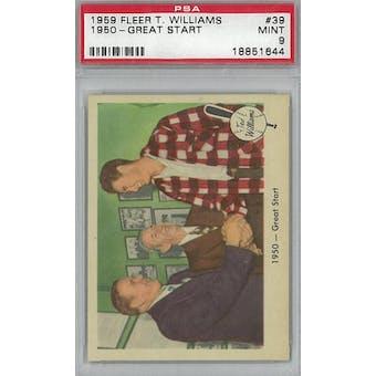 1959 Fleer Baseball Ted Williams Baseball #39 1950 Great Start PSA 9 (Mint) *1644 (Reed Buy)