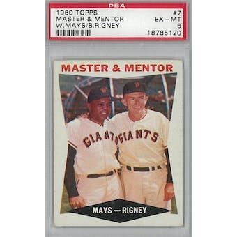 1960 Topps Baseball  #7 Master & Mentor PSA 6 (EX-MT) *5120 (Reed Buy)