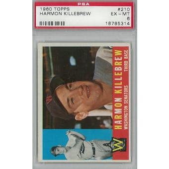 1960 Topps Baseball #210 Harmon Killebrew PSA 6 (EX-MT) *5314 (Reed Buy)