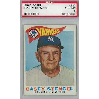 1960 Topps Baseball #227 Casey Stengel PSA 6 (EX-MT) *5330 (Reed Buy)