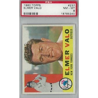 1960 Topps Baseball  #237 Elmer Valo PSA 8 (NM-MT) *5340 (Reed Buy)