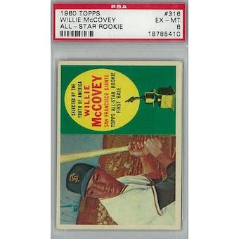 1960 Topps Baseball  #316 Willie McCovey RC PSA 6 (EX-MT) *5410 (Reed Buy)