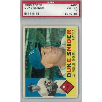 1960 Topps Baseball #493 Duke Snider PSA 4 (VG-EX) *0165  (Reed Buy)