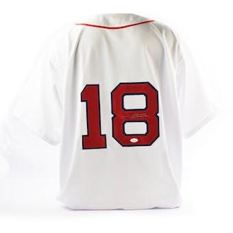 Johnny Damon Autographed Boston Red Sox Custom Baseball Jersey (JSA COA)