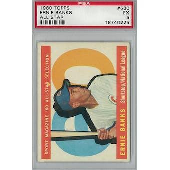 1960 Topps Baseball #560 Ernie Banks AS PSA 5 (EX) *0225 (Reed Buy)
