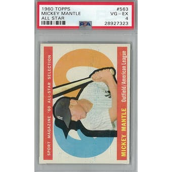 1960 Topps Baseball  #563 Mickey Mantle AS PSA 4 (VG-EX) *7323 (Reed Buy)