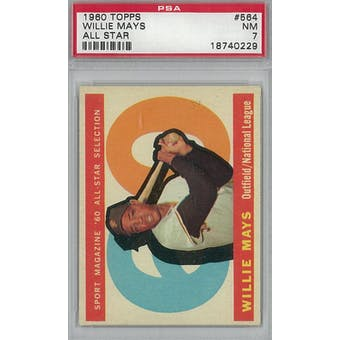 1960 Topps Baseball #564 Willie Mays AS PSA 7 (NM) *0229 (Reed Buy)